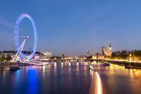 London Eye de nuit et ses lumières