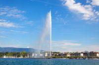 Jet d'eau de Genève, lac Léman