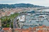 Vue aérienne du port de Cannes