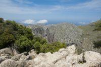 Vue panoramique sur la Sierra de Llaberia